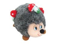 Игрушка мягкая Ёжик с грибами (муз.) 18 см