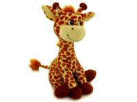 Игрушка мягкая Жираф насыпной (муз.) 29 см