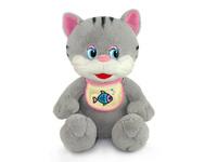 Игрушка мягкая Котёнок в слюнявчике (муз.) 20 см
