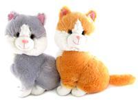 Игрушка мягкая Кошка двухцветная (муз.) 22 см