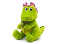 Игрушка мягкая Крокодил-мама с малышом (муз.) 24 см