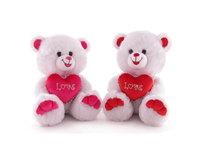 Игрушка мягкая Медведь белый с сердцем  (муз.) 22 см