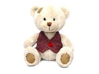 Игрушка мягкая Медведь Берни в жилетке малый (муз.) 18 см