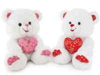 Игрушка мягкая Медведь с декоративным сердцем 24 см