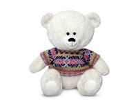 Игрушка мягкая Медвежонок в свитере с орнаментом (муз.) 21 см