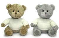 Игрушка мягкая Медвежонок лохматый в свитере (муз.) 20 см