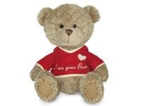 Игрушка мягкая Медвежонок лохматый в футболочке 18 см