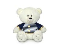 Игрушка мягкая Медвежонок Масик белый в матроске (муз.) 17 см