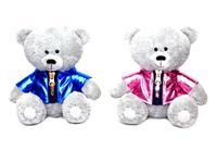 Игрушка мягкая Медвежонок Масик в блестящей курточке (муз.) 17 см