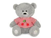 Игрушка мягкая Медвежонок Масик в маечке с вишнями (муз.) 17 см