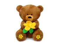 Игрушка мягкая Медвежонок Масик с вышитыми пятками 28 см
