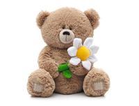 Игрушка мягкая Медвежонок с ромашкой (муз.) 21 см