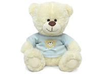 Игрушка мягкая Медвежонок Сэмми в голубой кофточке (муз.) 18 см