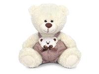 Игрушка мягкая Медвежонок Сэмми в клетчатых штанишках 18 см