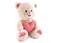 Игрушка мягкая Мишка блестящий с сердцем 20 см