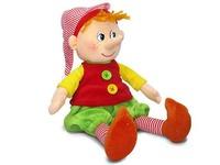 Игрушка мягкая Пиноккио с пуговицами (муз.) 21 см