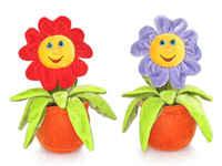 Игрушка мягкая Цветок малый (муз.) 18 см