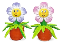 Игрушка мягкая Цветок нежный (муз.) 18 см