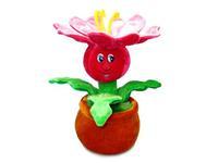 Игрушка мягкая Цветок с резными лепестками (муз.) 18 см