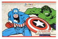 """Альбом для рисования """"Marvel comics"""" (20 л., А4, картон, офсет. лак)"""