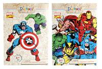 """Белый картон """"Marvel comics"""" (8 л., А4, мелованный)"""