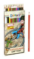 """Карандаши цветные """"Marvel comics"""" (24 цв.)"""