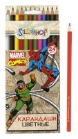 """Карандаши цветные """"Marvel comics"""", легкозатачиваемые (24 цв.)"""
