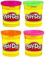PLAY-DOH Набор детскийпластилина из 4х банок (неон. цв.)