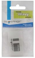 """Ластик из синтетич. каучука  """"Wavy"""" (каплевидный, белый, в упаковке)"""