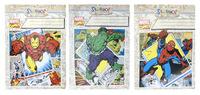 """Обложка для тетрадей и дневников """"Marvel comics"""" (213х355 мм, 130 мк, круглая, 3 штук)"""