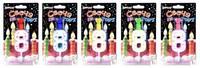"""Свеча для торта  """"Hobby"""" в виде цифры """"8"""" (цвет ассорти)"""