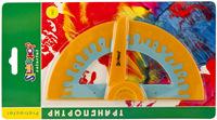 "Транспортир ""Colorful"" 180° (оранжевый)"