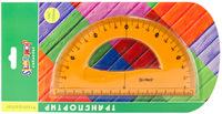 """Транспортир """"Colorful"""" (180°/15 см, гнущийся)"""