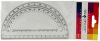 Транспортир (180°/15 см, прозрачный)
