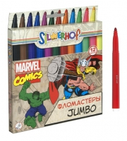 "Фломастеры ""Marvel comics"" - ""Jumbo"" (12 цв.)"