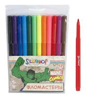 """Фломастеры """"Marvel comics"""" (12 цв., в ПВХ упаковке)"""