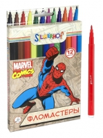 "Фломастеры ""Marvel comics"" (12 цв., шестигранные)"