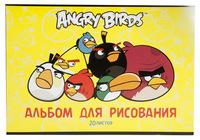 """Альбом для рисования  """"Angry birds"""" (20 л., А4,  на скрепке, лак)"""