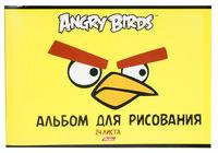 """Альбом для рисования """"Angry birds"""" (24 л., А4, на скрепке, лак)"""