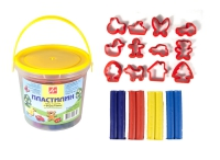 Пластилин (11 цв., 220 г, 12 формочек)