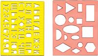 Трафарет №1 (геометрические фигуры)