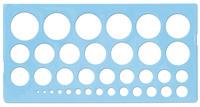 Трафарет (окружности с разными радиусами)