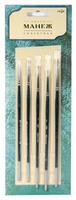 """Кисть """"Манеж"""", (набор из 5штук: круглые №000,0,1,2,4, синтетическая, деревянная лакированная ручка)"""