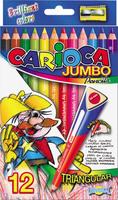 """Карандаши цветные """"Carioca Jumbo Traingular"""" (12цв.)"""