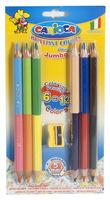 """Карандаши цветные """"Carioca Jumbo double"""" (6 карандашей = 12 цв., двусторонние)"""