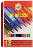 """Карандаши цветные """"Progresso"""" (12 цв.)"""