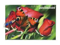 """Альбом для рисования """"Бабочки"""" (40 л., А4, на сутаже)"""