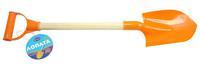 Дет. лопатапластмассовая с деревян. ручкой 53 см (цв. в ассорт.)