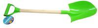 Дет. лопатапластмассовая с деревян. ручкой 68 см (цв. в ассорт.)