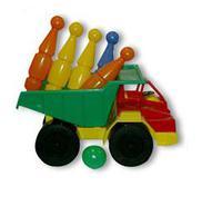 """Детский игрушечный самосвал """"Белаз"""" с кеглями"""